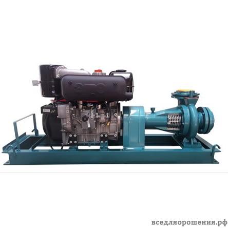 28,5 HP Lombardini дизельная мотопомпа — электрический стартер